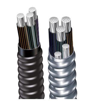 交聯聚乙烯絕緣鋁合金帶連鎖鎧裝鋁合金電力電纜